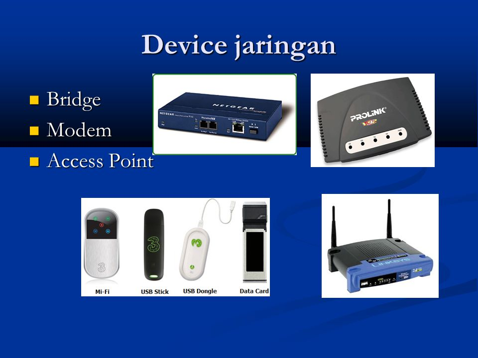 Device jaringan Bridge Modem Access Point