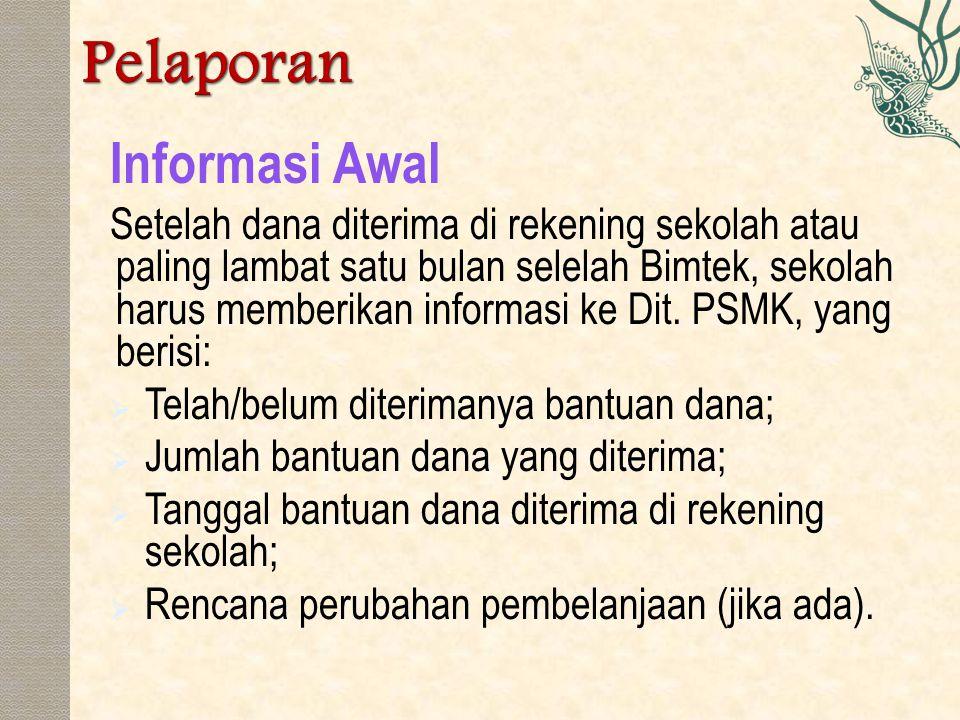Pelaporan Informasi Awal