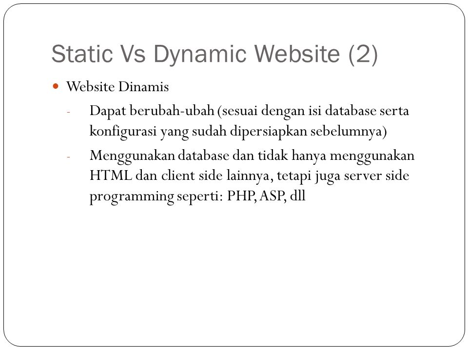 Static Vs Dynamic Website (2)