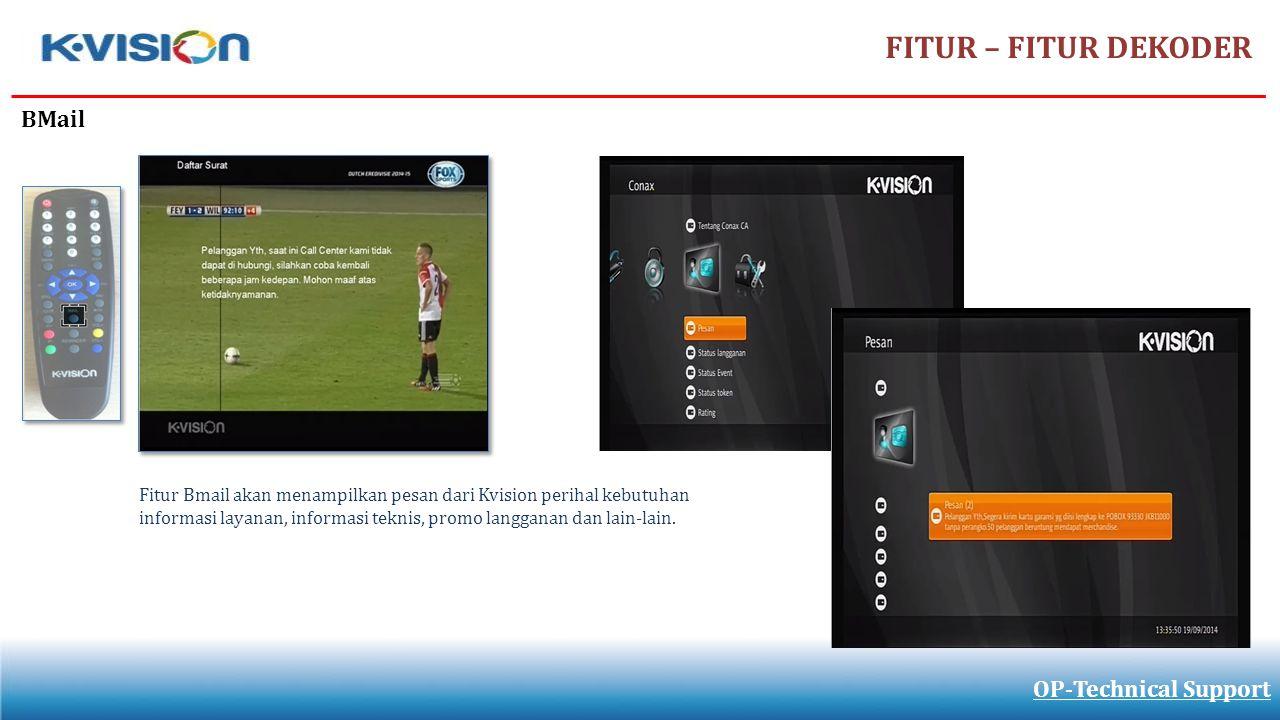 FITUR – FITUR DEKODER BMail OP-Technical Support
