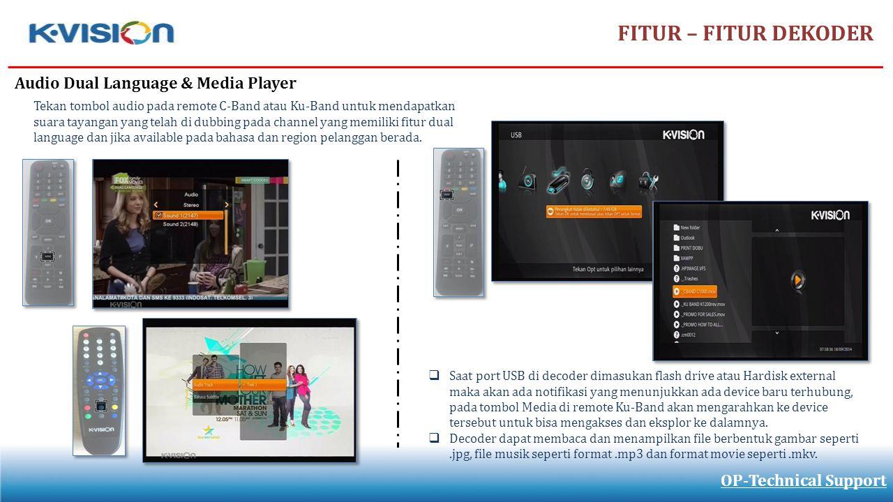 FITUR – FITUR DEKODER Audio Dual Language & Media Player
