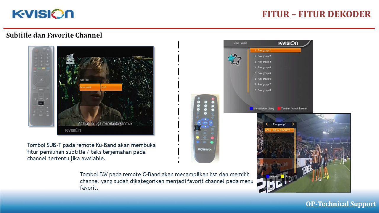 FITUR – FITUR DEKODER Subtitle dan Favorite Channel