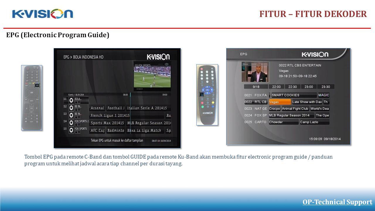 FITUR – FITUR DEKODER EPG (Electronic Program Guide)