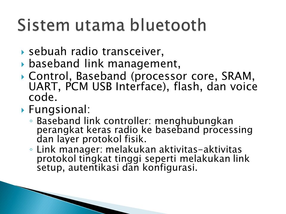 Sistem utama bluetooth