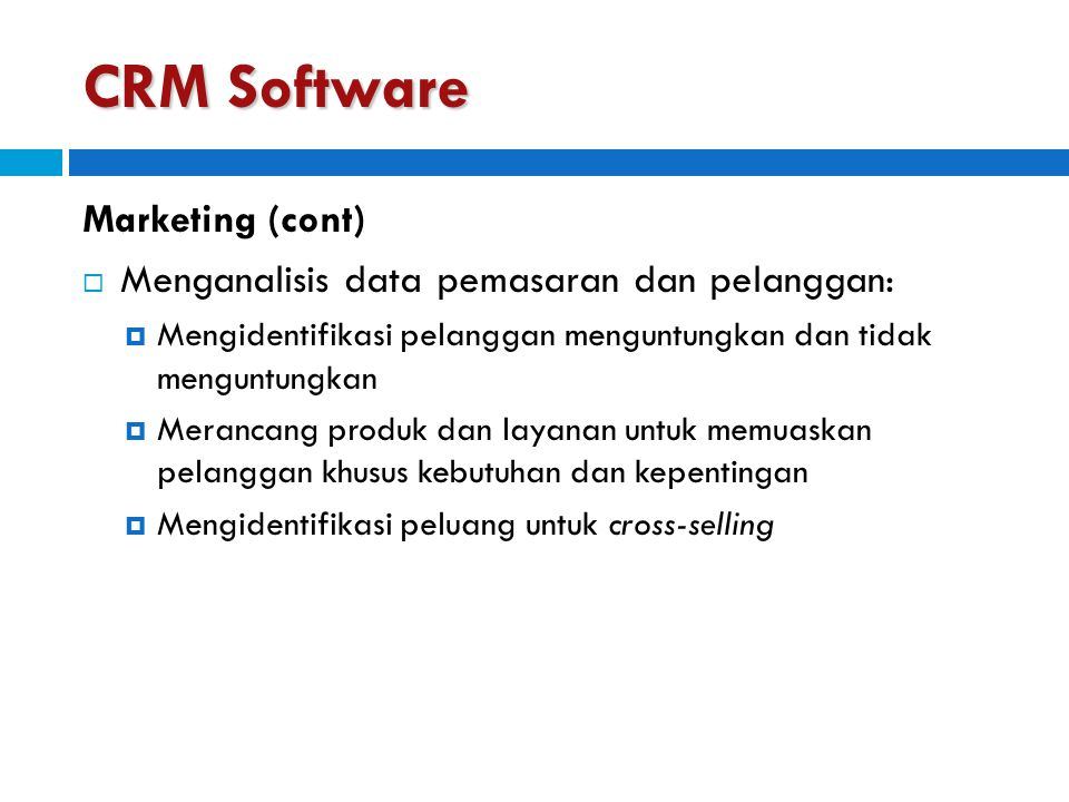 CRM Software Marketing (cont)