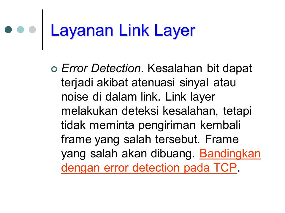 Layanan Link Layer