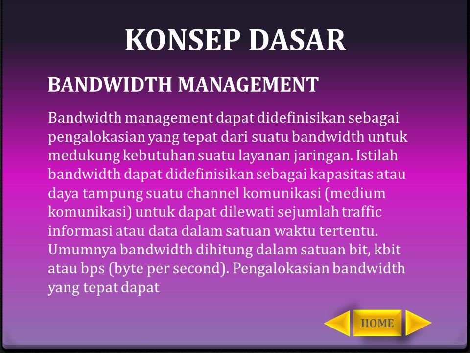 KONSEP DASAR BANDWIDTH MANAGEMENT