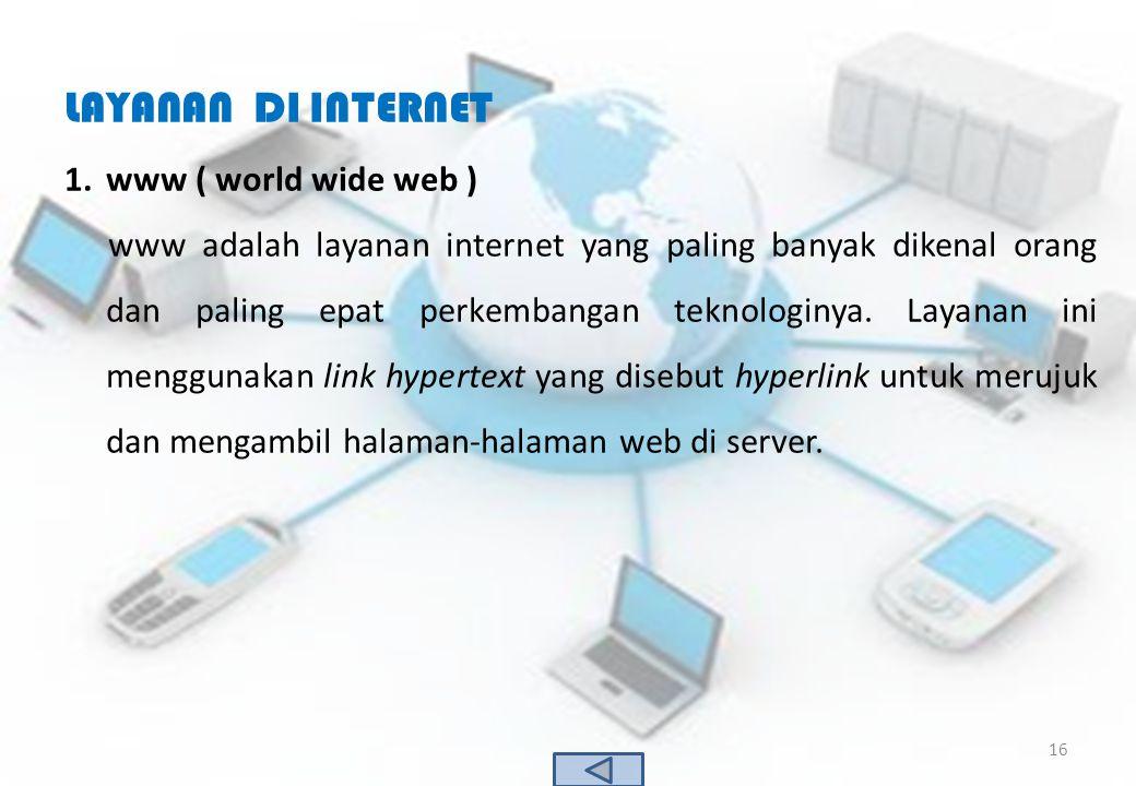 LAYANAN DI INTERNET www ( world wide web )