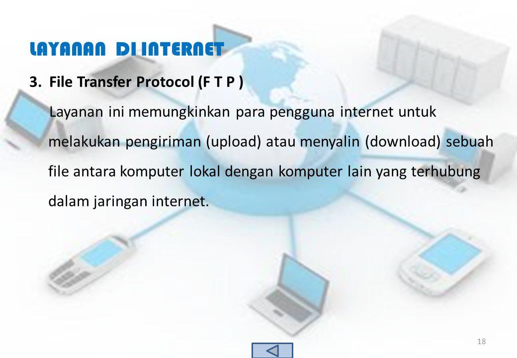 LAYANAN DI INTERNET File Transfer Protocol (F T P )