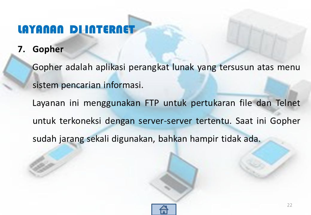 LAYANAN DI INTERNET Gopher