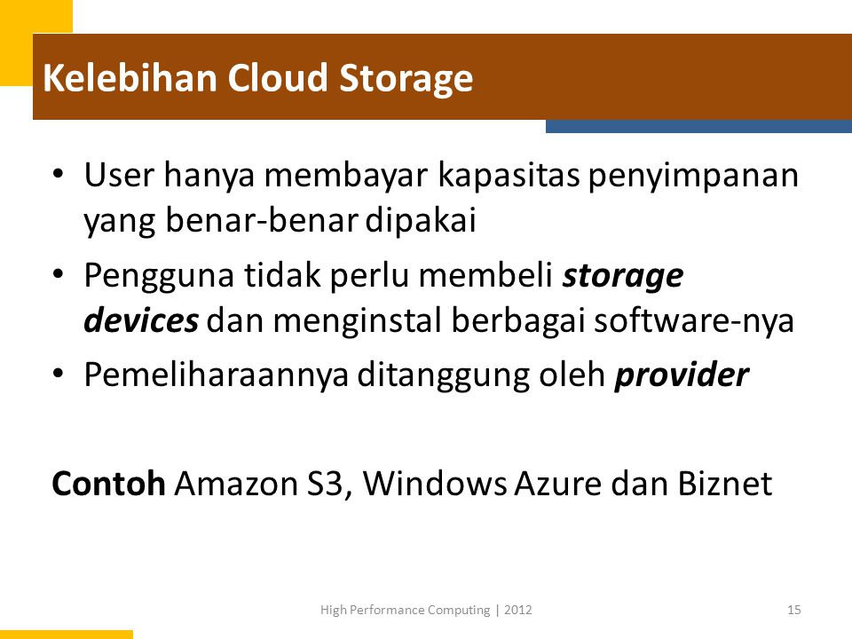 Kelebihan Cloud Storage