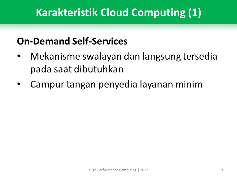Karakteristik Cloud Computing (1)