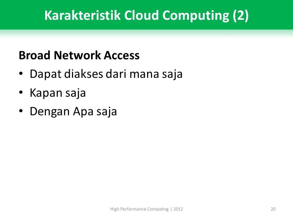 Karakteristik Cloud Computing (2)