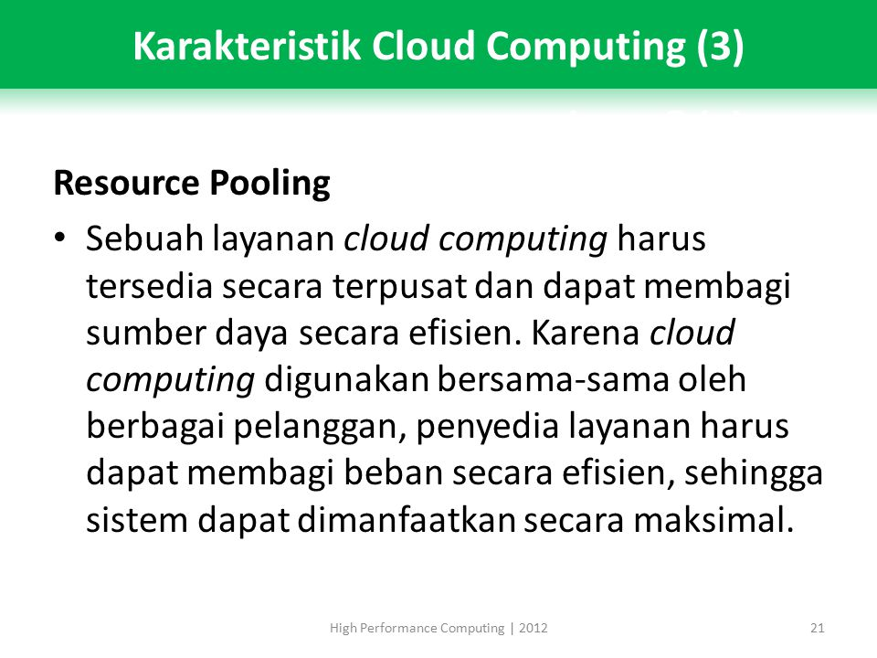 Karakteristik Cloud Computing (3)