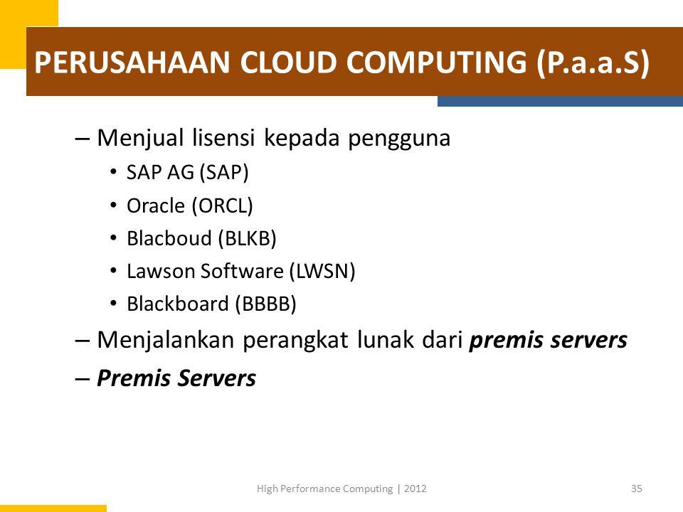 PERUSAHAAN CLOUD COMPUTING (P.a.a.S)