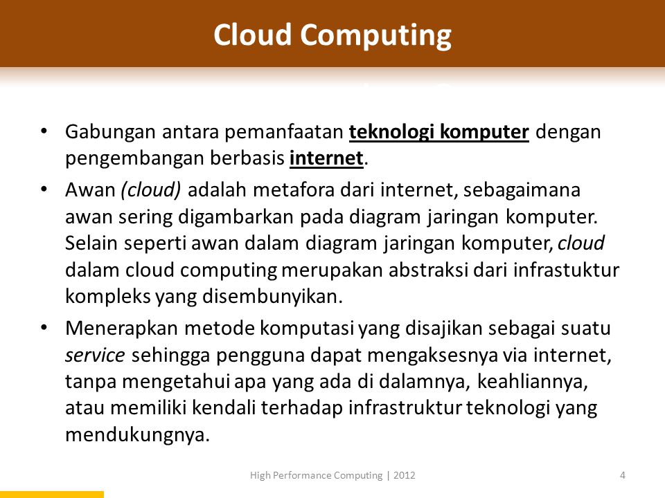 High Performance Computing | 2012