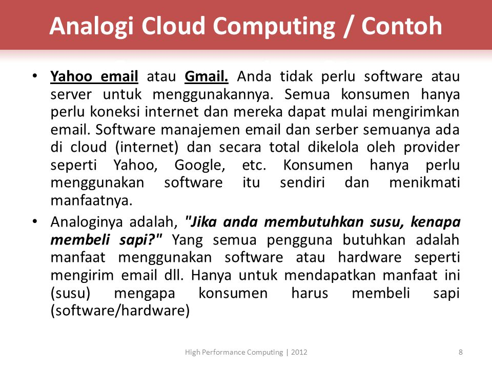 Analogi Cloud Computing / Contoh