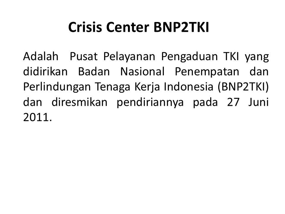 Crisis Center BNP2TKI