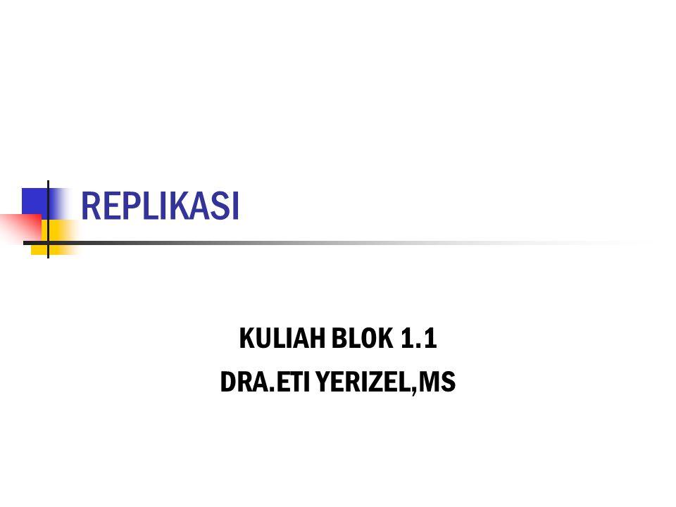 KULIAH BLOK 1.1 DRA.ETI YERIZEL,MS
