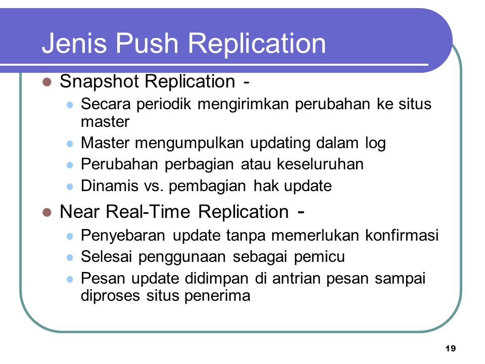 Jenis Push Replication