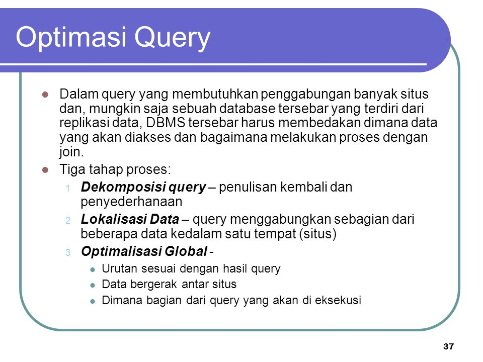 Optimasi Query