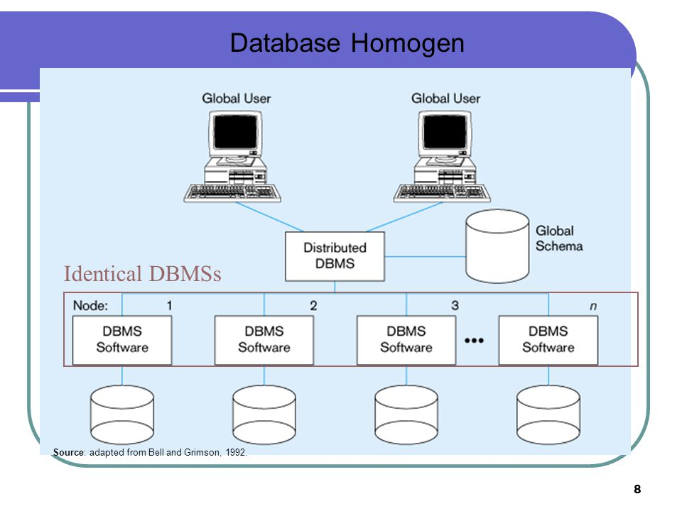 Database Homogen Identical DBMSs
