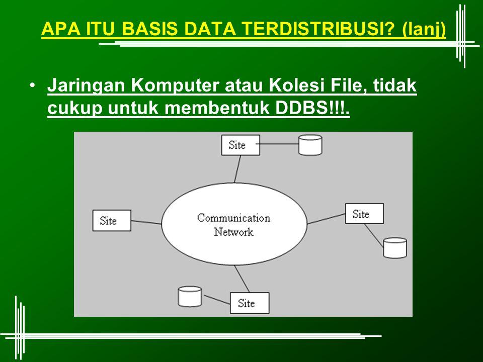 APA ITU BASIS DATA TERDISTRIBUSI (lanj)