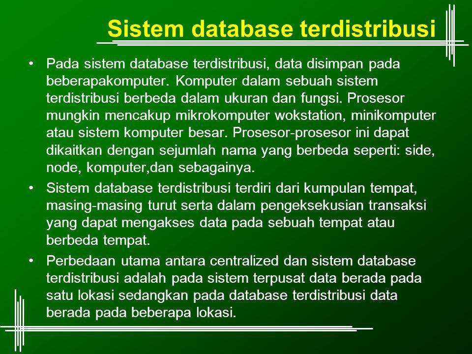 Sistem database terdistribusi