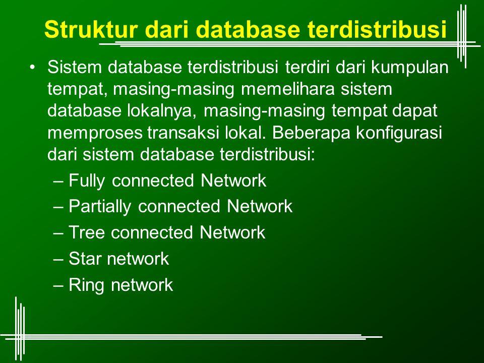 Struktur dari database terdistribusi