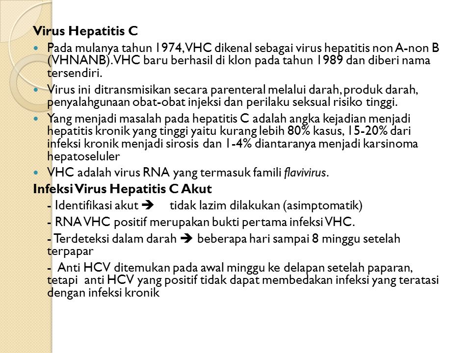 Virus Hepatitis C