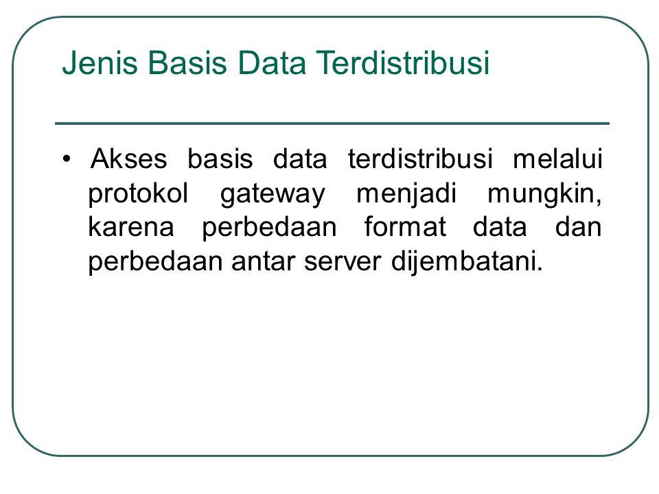 Jenis Basis Data Terdistribusi