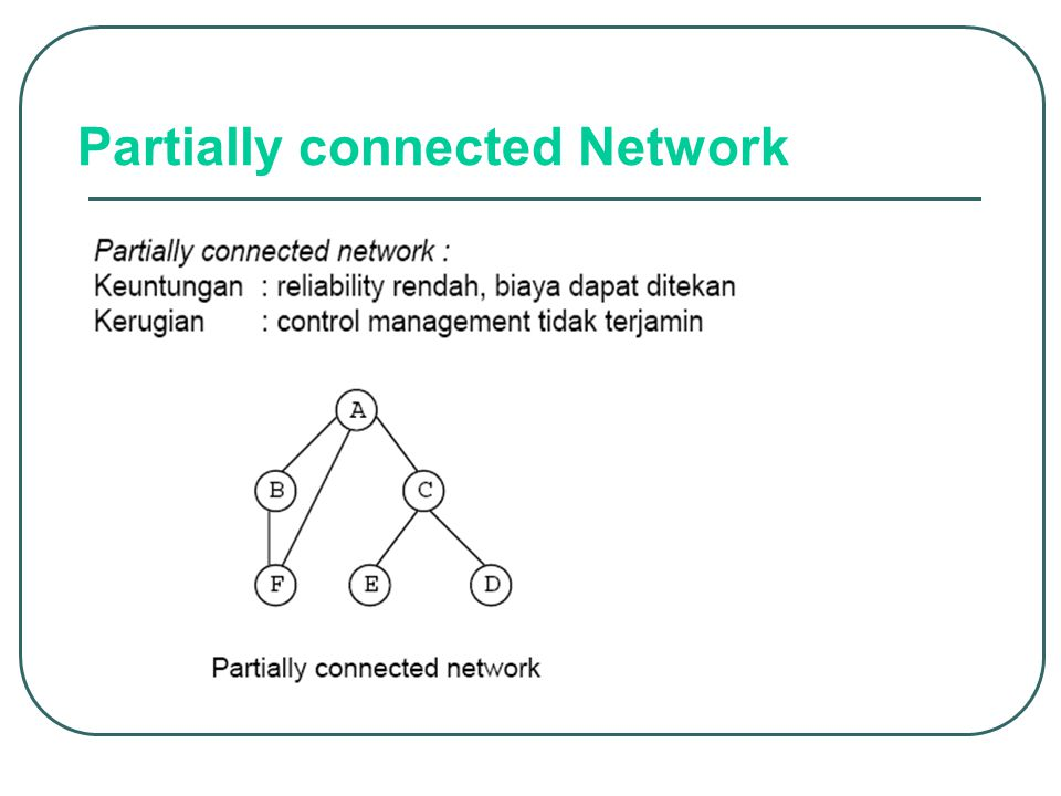 Partially connected Network