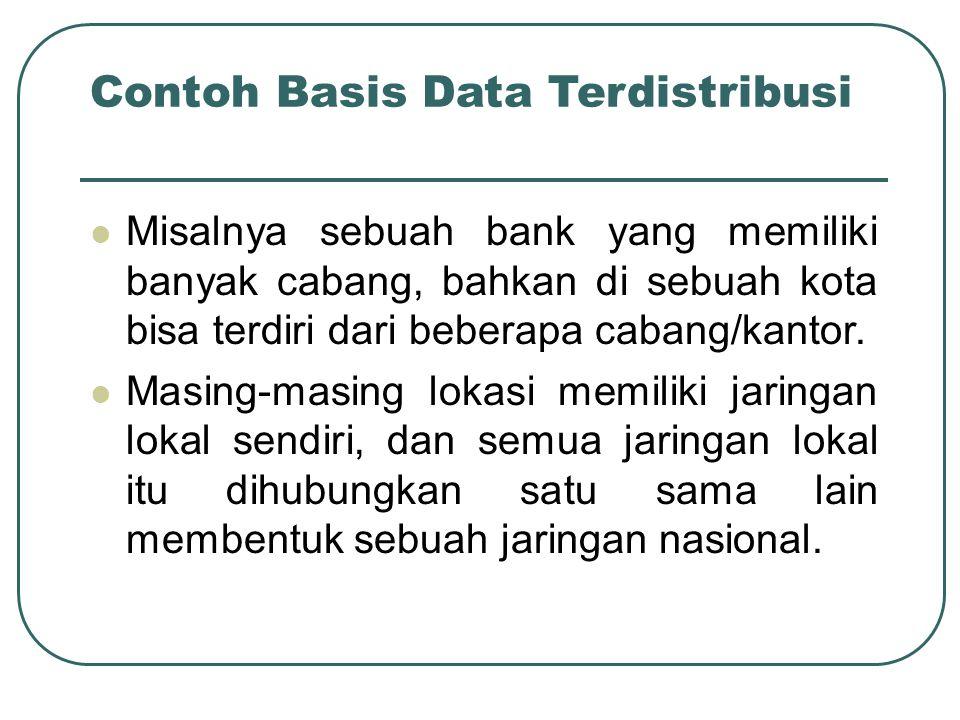 Contoh Basis Data Terdistribusi