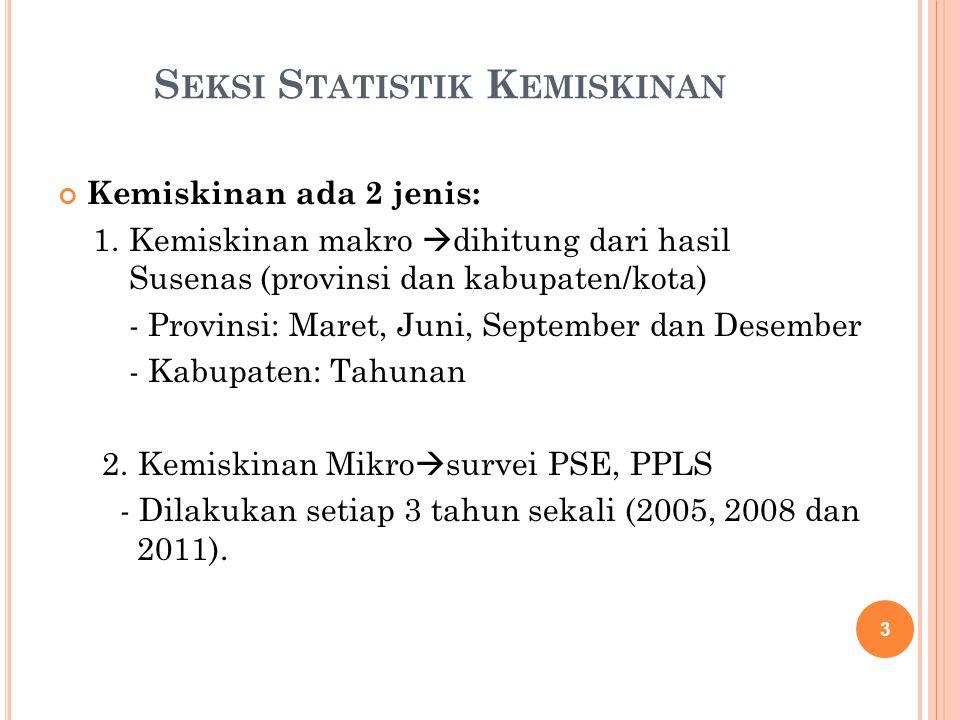 Seksi Statistik Kemiskinan