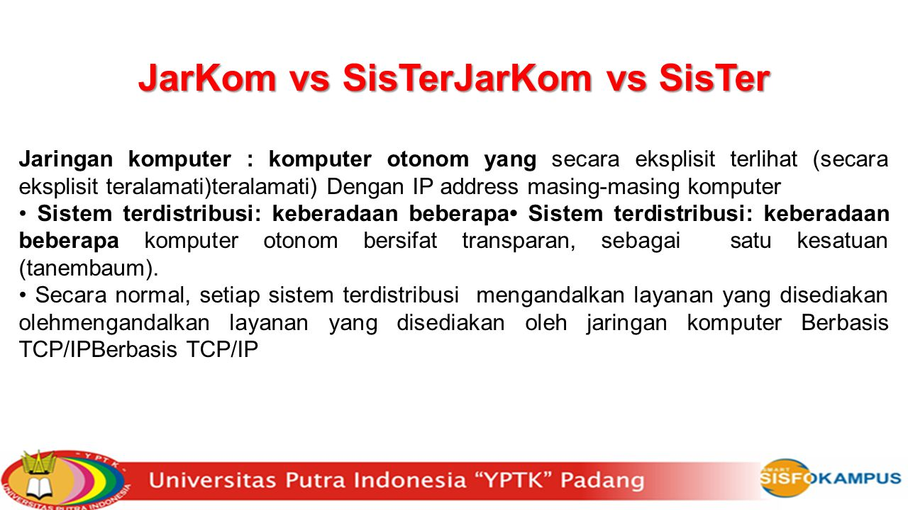 JarKom vs SisTerJarKom vs SisTer