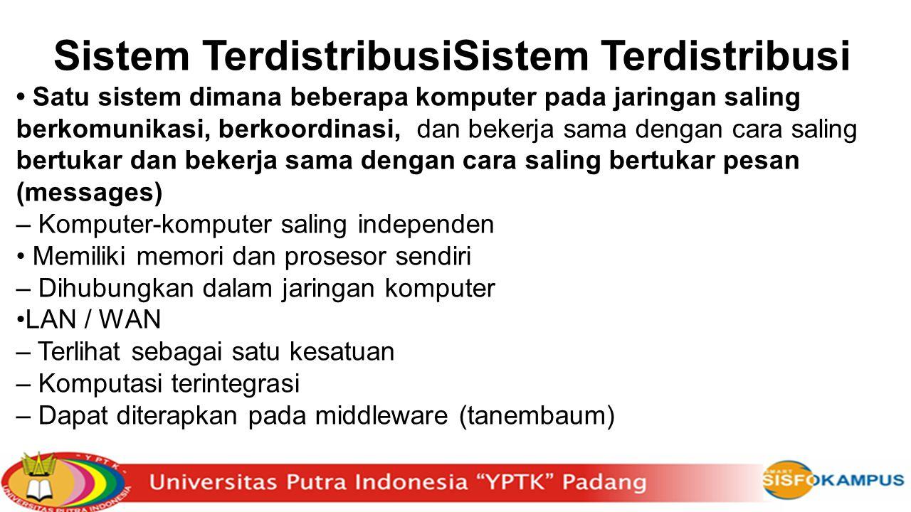 Sistem TerdistribusiSistem Terdistribusi