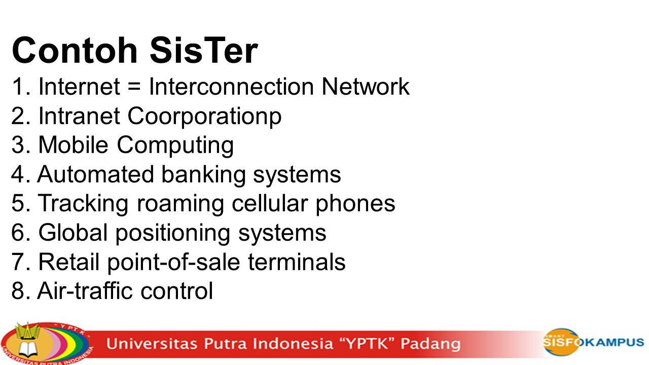 Contoh SisTer Internet = Interconnection Network