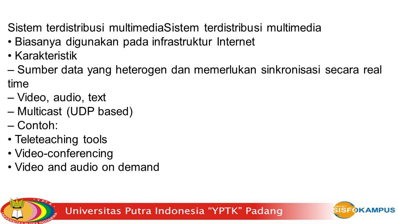 Sistem terdistribusi multimediaSistem terdistribusi multimedia