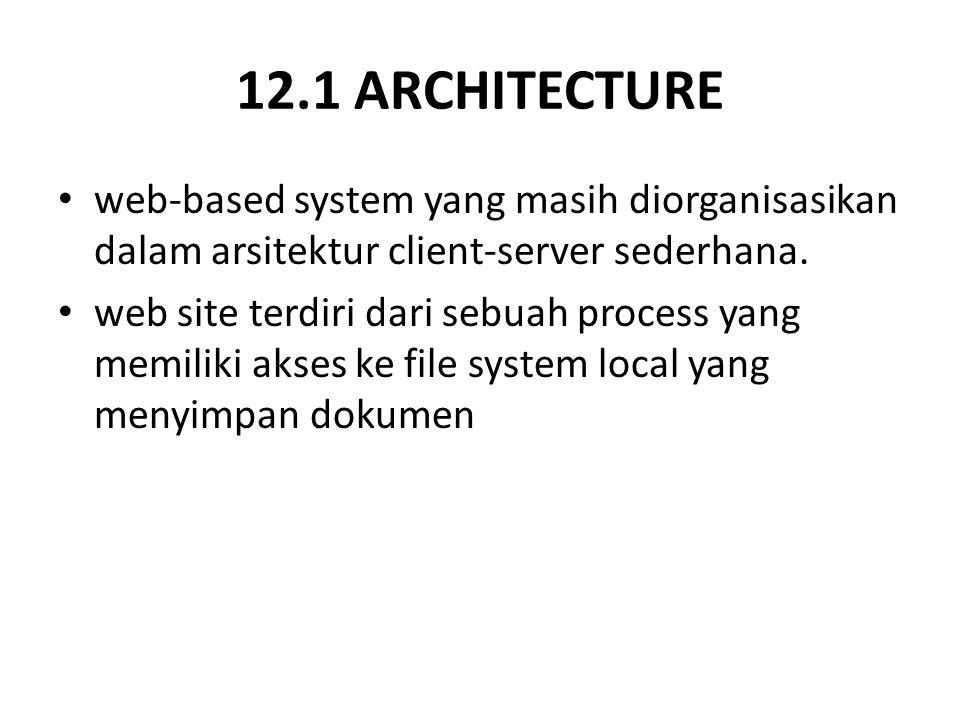12.1 ARCHITECTURE web-based system yang masih diorganisasikan dalam arsitektur client-server sederhana.