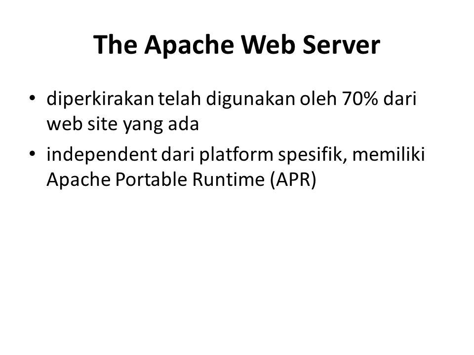 The Apache Web Server diperkirakan telah digunakan oleh 70% dari web site yang ada.