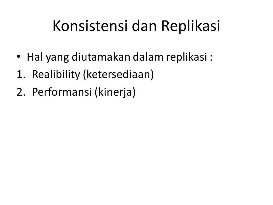 Konsistensi dan Replikasi