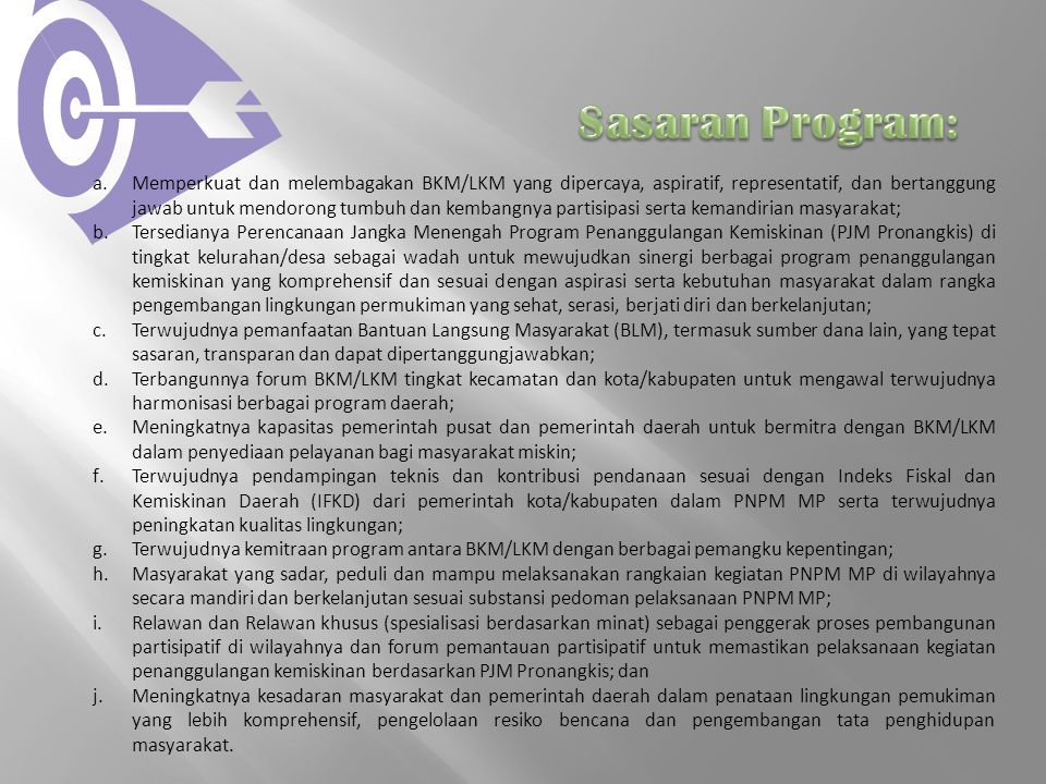 Sasaran Program: