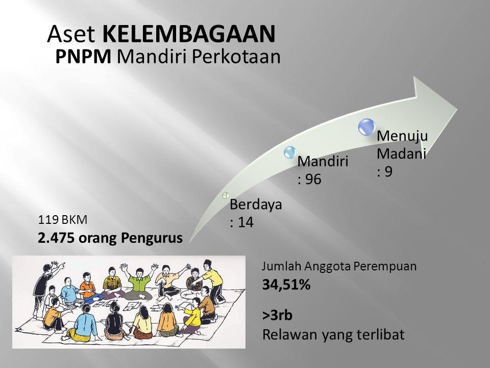 Aset KELEMBAGAAN PNPM Mandiri Perkotaan Menuju Madani : 9 Mandiri : 96
