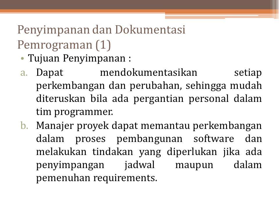 Penyimpanan dan Dokumentasi Pemrograman (1)
