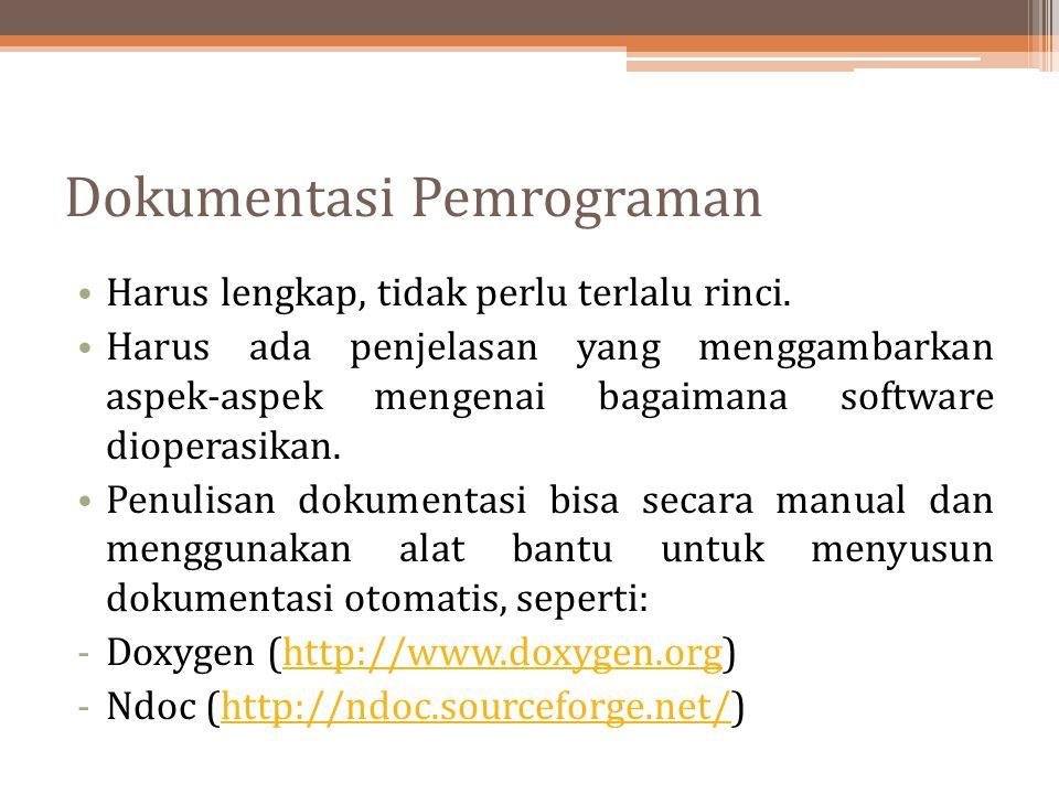 Dokumentasi Pemrograman