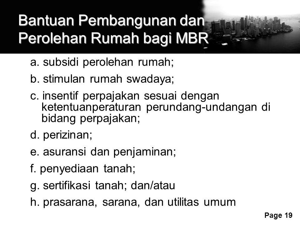 Bantuan Pembangunan dan Perolehan Rumah bagi MBR