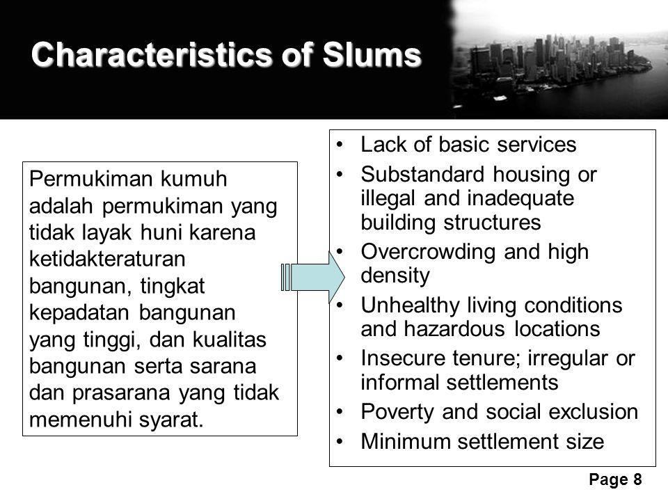 Characteristics of Slums