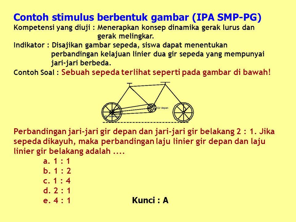 Contoh stimulus berbentuk gambar (IPA SMP-PG)