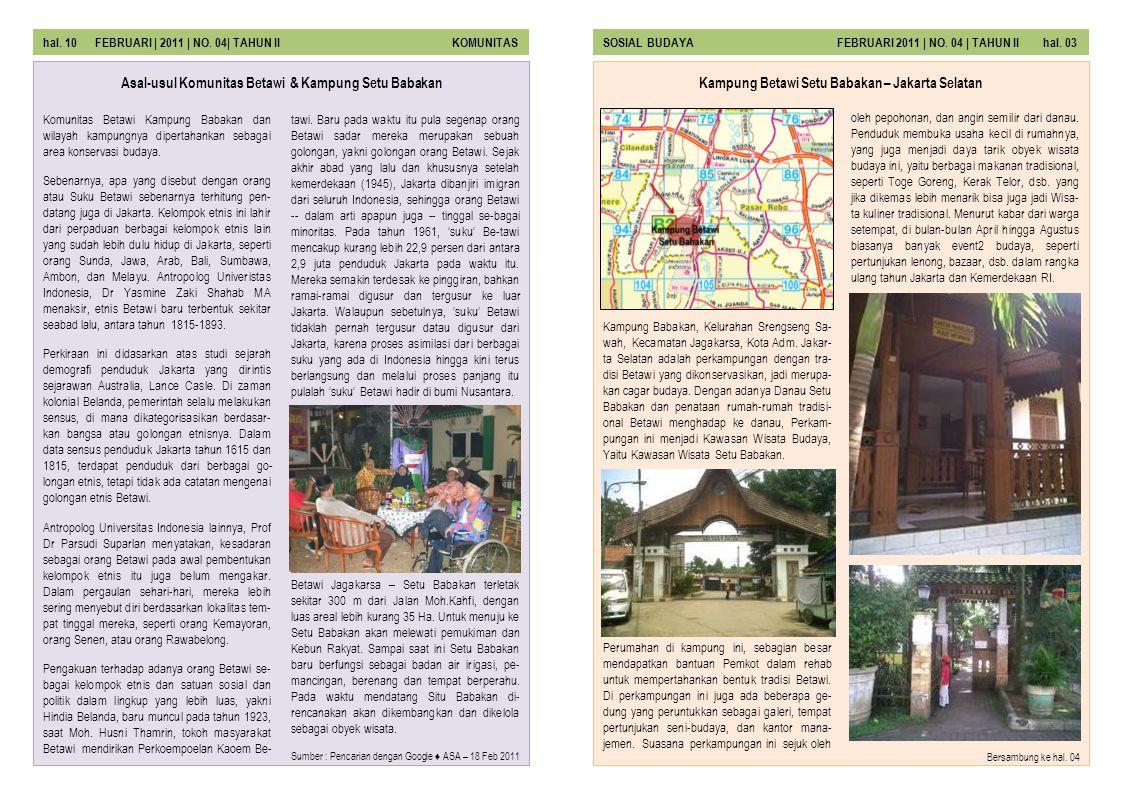 Asal-usul Komunitas Betawi & Kampung Setu Babakan