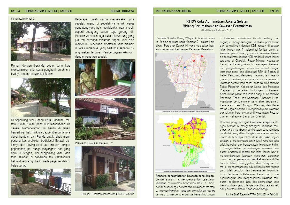 hal. 04 FEBRUARI 2011 | NO. 04 | TAHUN II SOSIAL BUDAYA